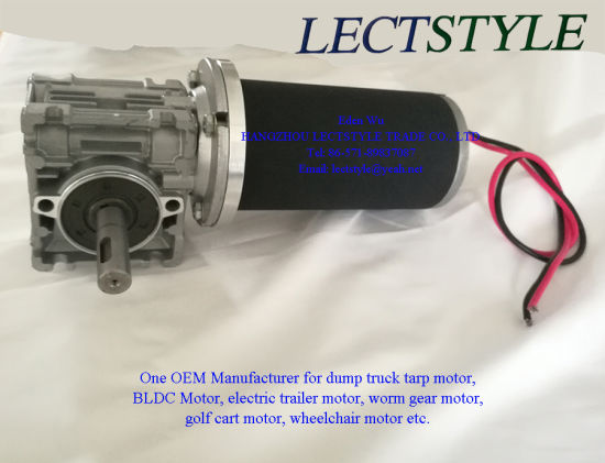 63zy 100W 12V Worm Gear Motor for Agricultural Machinery pictures & photos