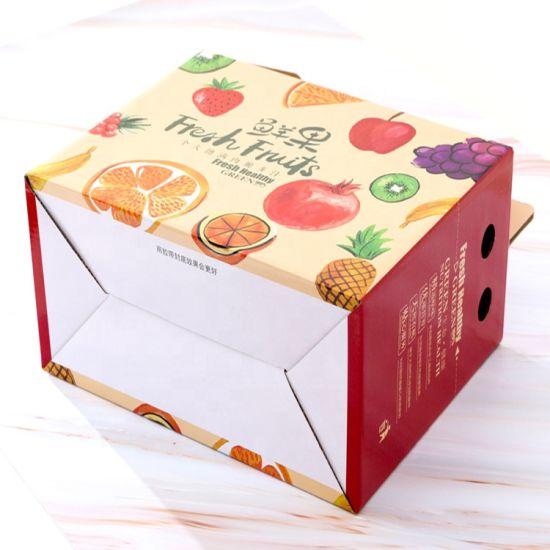 Custom Design Low Price Multi Sizes Cardboard Corrugated Paper Fruit Packaging Boxes Banana Carton Box