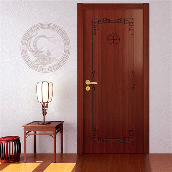 China Interior Bedroom Teak Wood Main Door Latest Design Wooden