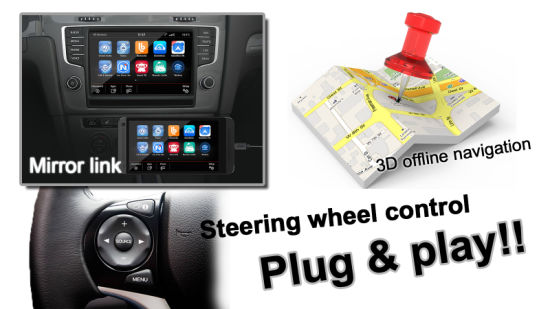 China Android GPS Navigation System Video Interface for