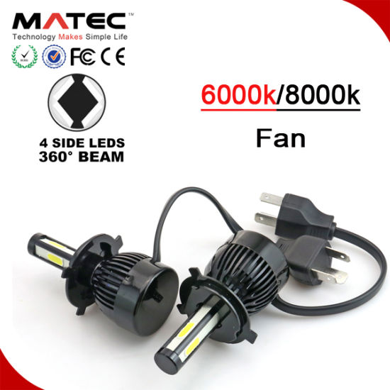 2018 Auto Accessory Car LED Headlight Kit H11 9007 9004 H13 H4 LED Headlight pictures & photos