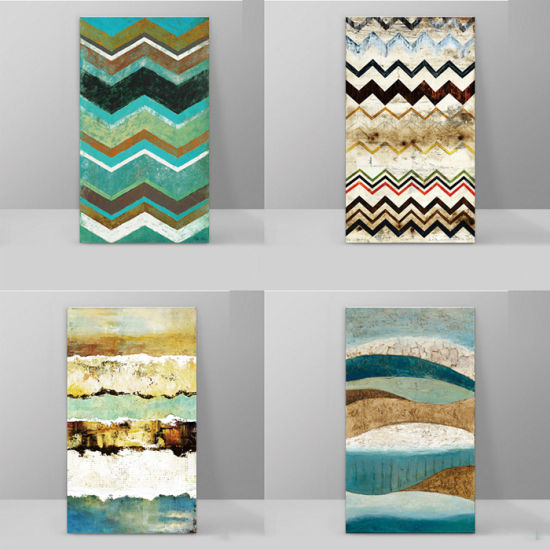Turquoise Rectangle Pattern Canvas wall Art prints high quality great value