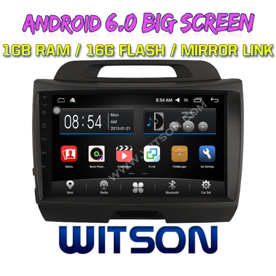"""china witson 9"""" big screen android 6.0 car dvd for kia sportage (low"""