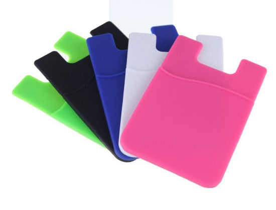Promotional Waterproof 3m Adhesive Silicone Smart Wallet Name Card Holder, Card Pouch pictures & photos