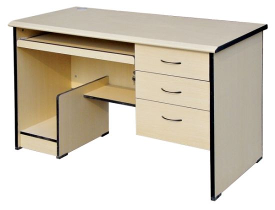 White Used Computer Desk with Drawer Study Table Furniture (SZ-CDT027) pictures & photos