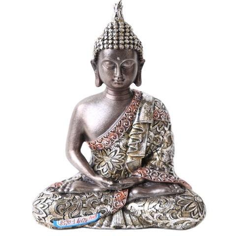 Wholesale Tabletop Inner Heart Peaceful Meditating Buddhist Sitting Resin Thai Buddha Statue