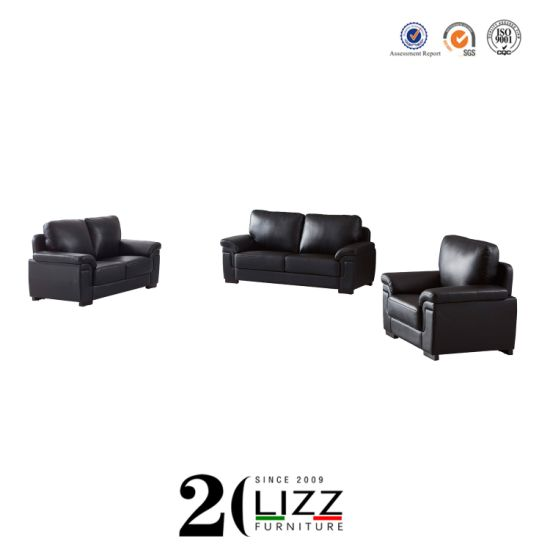 China Manufacturer Wholesale Home Furniture Living Room Modern Genuine Leather Sofa