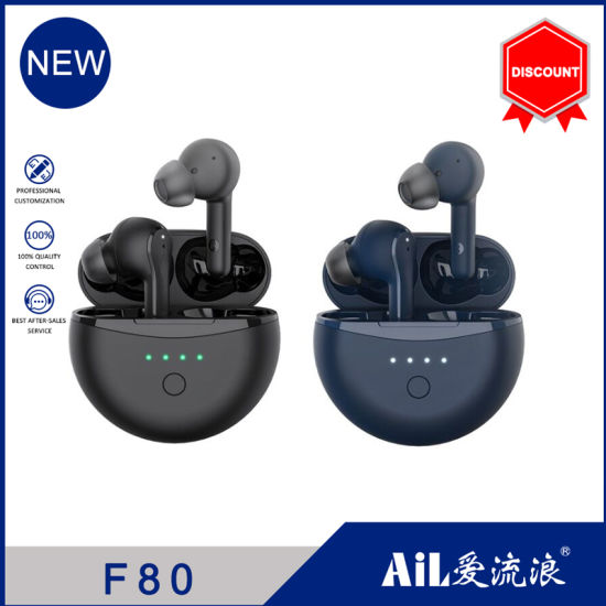 F80 Anc Active Noise Cancelling Bluetooth Wireless Earphone in-Ear with Microphone Headset