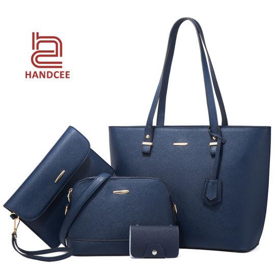 Fashion Wholesale Market Lady Luxury Women Ladies Designer Brand PU Leather Crossbody Shoulder Woman Female Purse Sling Briefcase Tote Bag Set Other Handbags