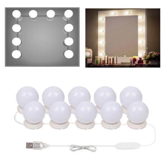 10 Leds Bulb Hollywood Style Makeup, Makeup Mirror Light Kit