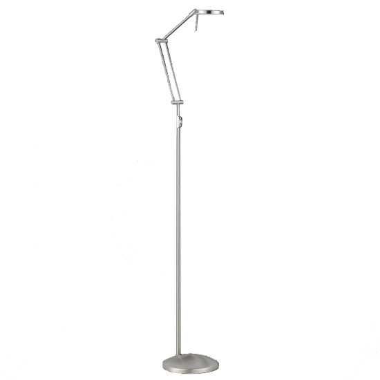 Adjustable Single Tube Sofa Stand LED Floor Lamp Modern with Push Memory Dimmer Switch