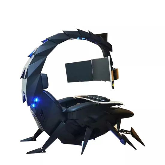 Cluvens Iw-Sk Scorpion King Computer Gaming Office Reclining Chair for 3 Monitors