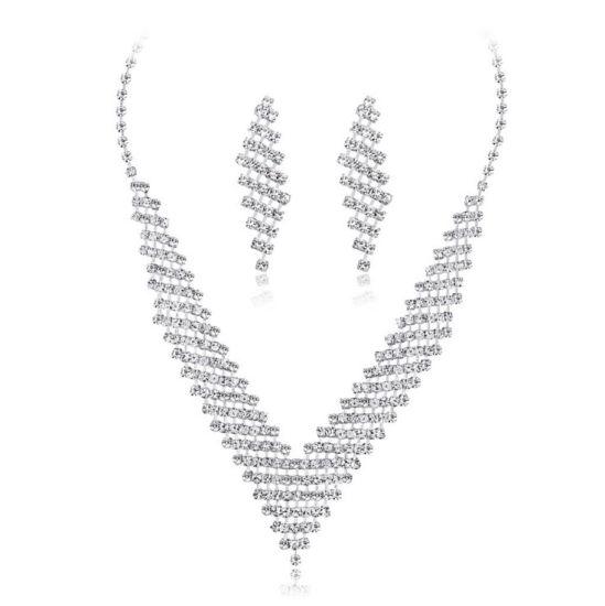 China Fashion Jewelry Silver Crystal