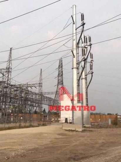 Megatro 132kvtransmission Pole