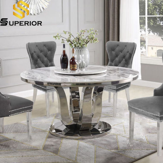Modern Home Furniture Set Round Marble, Round Marble Table Dining Set