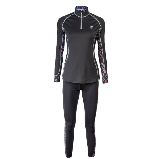 Wholesale Long Sleeve Half Zip Yoga Women's Sublimation Print Riding Sweatshirt
