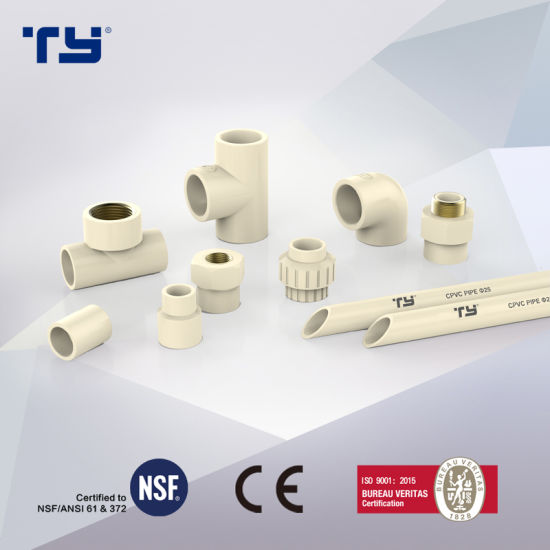 Hot and Cold Water Plastic Fitting ASTM D2846 Standard Plastic/CPVC/Era/Pressure Connector Pipe Fittings