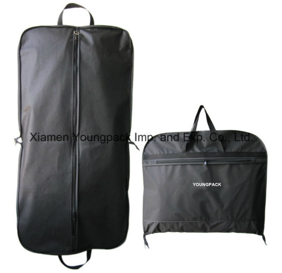 Personalized Fashion Black Foldable Men′s Travel Suit Garment Cover Bag  pictures   photos e90bd712d9f63