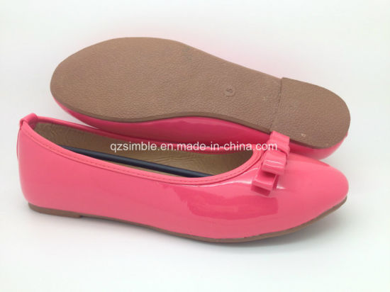 Fushia Patent PU Flat Ballerinas for Women