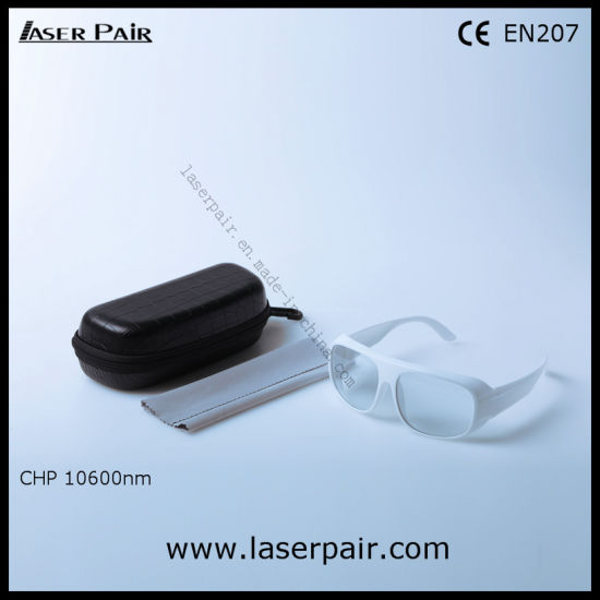 High Quality of Laser Protective Glasses & Laser Safety Goggles for CO2 Lasers with White Frame 52