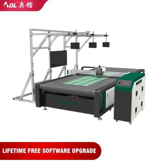 Aol CNC Cloth Cutter Fabric Cutting Machine Round