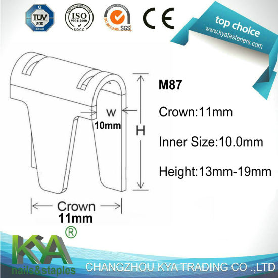 M87 Series Clinch Clips for Mattress Making pictures & photos