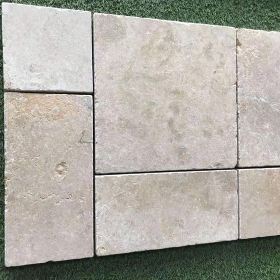 Travertine French Pattern Paving Stone with Bullnose/Edge Swimming/Pool  Coping Tiles