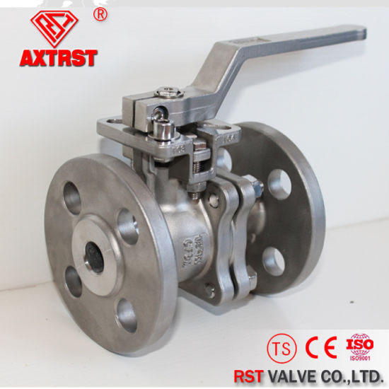 2PC Flanged Stainless Steel Ball Valve with Direct Mounting Pad pictures & photos