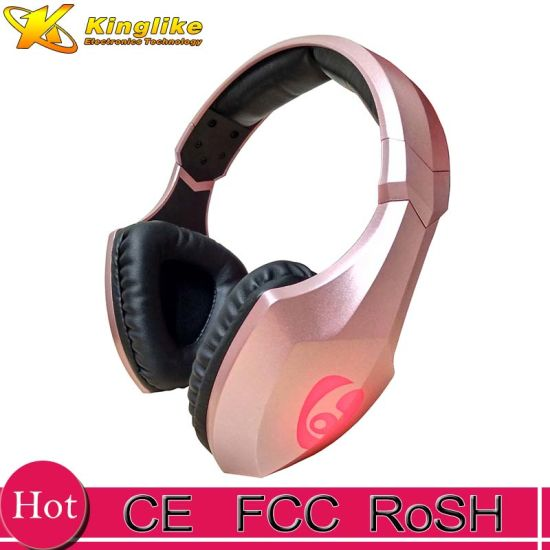 China Hot Headphones Led Lighting Headset Bluetooth Earphone Stereo Call Paced Card For Android Phones Computer Pc Gamer China Bluetooth Earphone Wireless Earphone