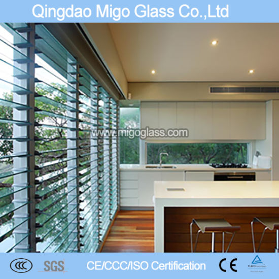 Migo Glass Louver Glass Dull Edges with ISO Certification