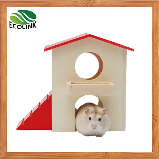 Pet Small Animal Hideout Wood Hut and Wooden Playgym Living Habitat and Toy for Dwarf Hamster and Mouse pictures & photos