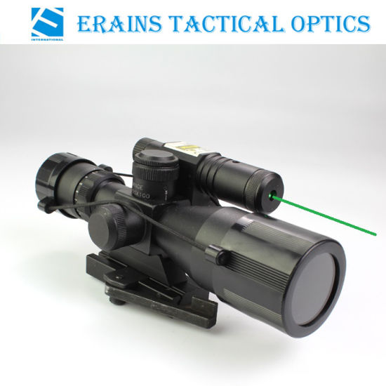 2.5-10x40 Red Green Mil-dot Illuminated Tactical Sight Rifle Scope Green Laser w