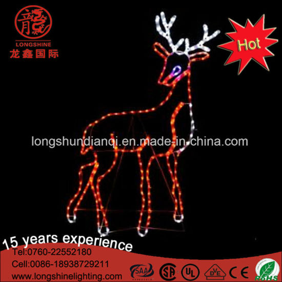 LED White Reindeer Neon Flex Motif Light for Indoor and Outdoor Christmas Street Decoration pictures & photos