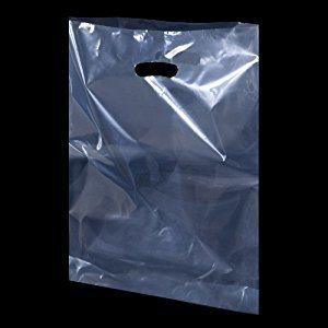 Die Cut PE Clear Handbag / Plastic Shopping Bag