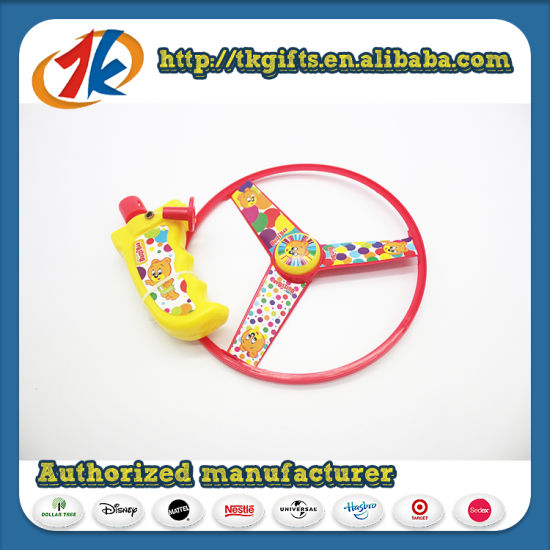 China Supplier Funny Plastic Flying Disc Launcher Toy for Kids