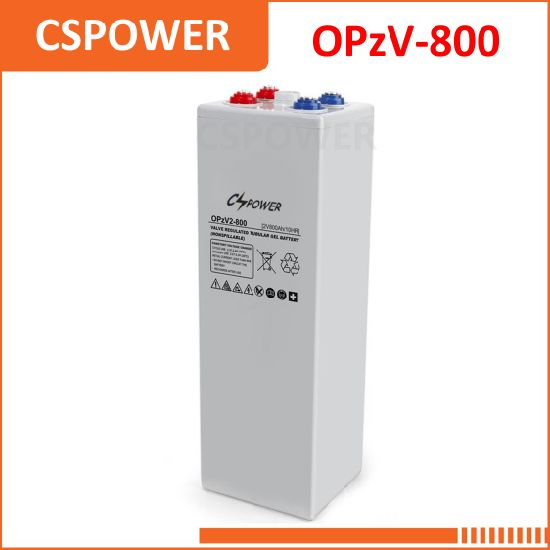 China 2V800ah Tubular VRLA Gel Solar Power Battery 2V 800ah Opzv2