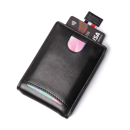 Amazon Hot Selling Promotion Gift Genuine Leather Money Clip Real Leather RFID Cards Holder