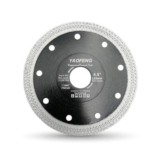 "4.5"" Super Thin Diamond Saw Blade - Porcelain Tiles Granite Marble Ceramics Diamond Cutting Disc"