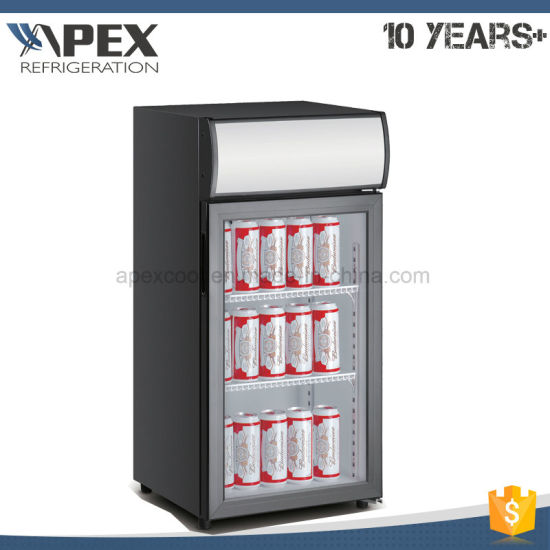 80L Countertop Fan Assisted Cooling Single Door Portable Mini Fridge