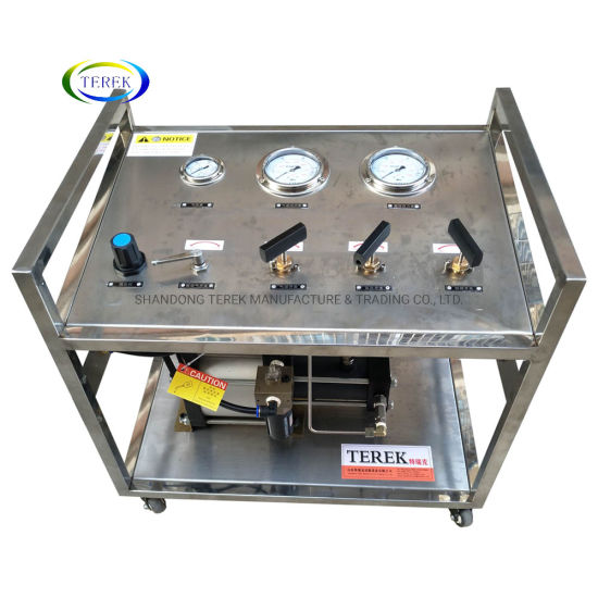 Terek Pneumatic Gas Booster Pump CO2 Gas Cylinder Filling Pump Pressure Control Bench Unit Testing Machine