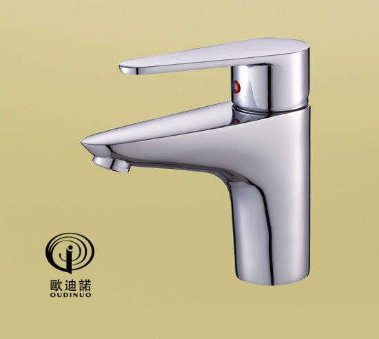 Oudinuo Single Handle Basin Tap & Faucet &Bibcock with Chrome Plated 67411