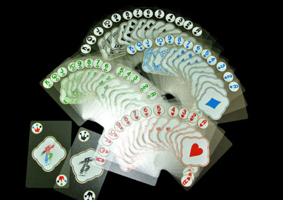 Transparent Plastic PVC Playing Cards pictures & photos