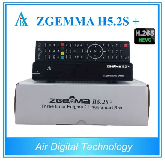 Italy/Spain/German Hot Sale Multistream Decoder Zgemma H5.2s Plus Sat/Cable Receiver DVB-S2+DVB-S2X/T2/C Triple Tuners pictures & photos