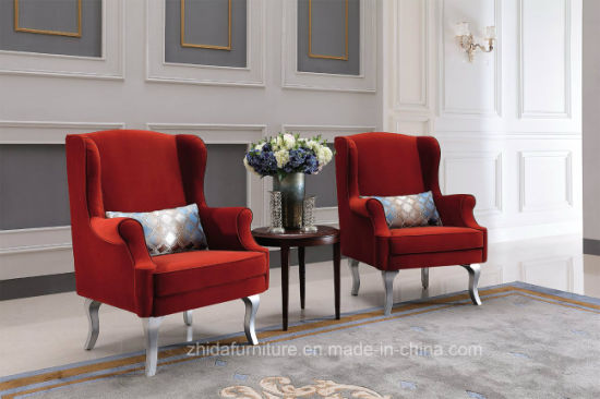 China Red Colour Cheap Living Room Arm Chair - China Cheap ...