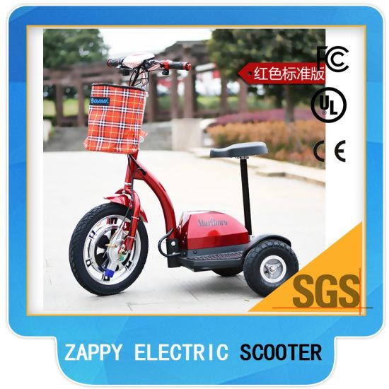 Cheap Lithium Battery Powered Three Wheel Electric Scooter for Adult