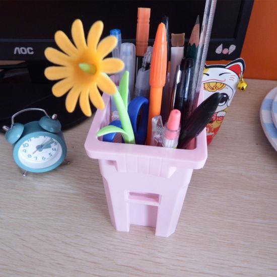 Mini Trash Bin Plastic Waste Can Desktop School Pencil Holder