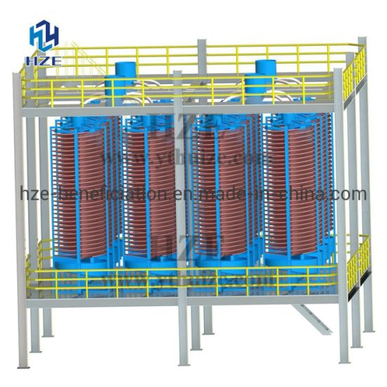 Spiral Concentrator of Gold Gravity Concentration Processing Plant