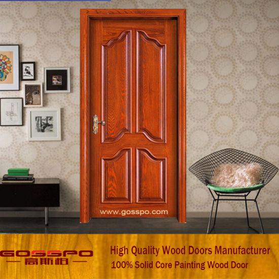China Classic Style Teak Wood Main Door Design Gsp2 046 China