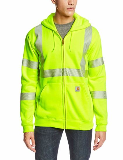 Men's High Visibility Class 3 Sweatshirt Lightweight Hoodie Workwear Jacket