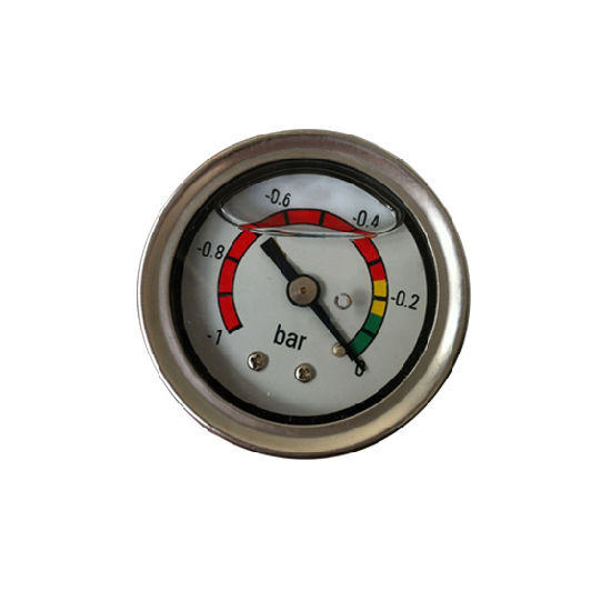 "High Quality 40mm 1.5"" Liquid Filled -1~0 Bar Vacuum Gauge"
